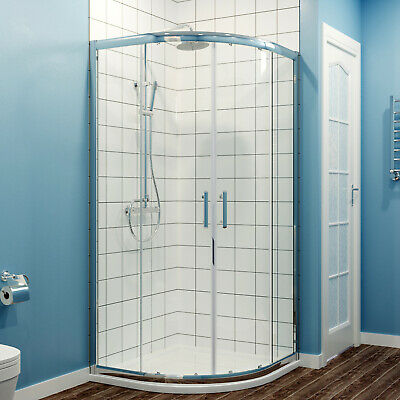 Quadrant Shower Cubicle Corner Entey Walk In Shower Enclosure and Tray 6mm Glass