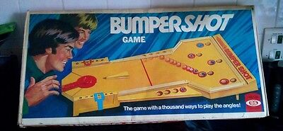 Bumpershot board game by ideal 70s retro vintage collectable pinball style