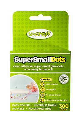 12 x U-Craft Mini Glue Dots 3-5mm dia x 300 roll permanent extra strength 201057