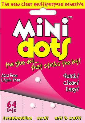 U-Craft Mini Glue Adhesive Dots 64 per pack 5mm permanent extra strength 110064