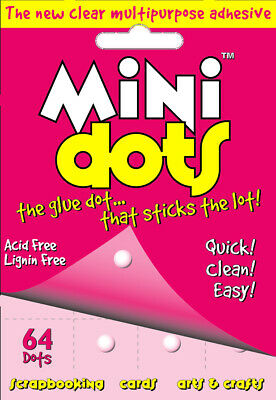 2 x U-Craft Mini Glue Dots 64 per pack 5mm permanent extra strength 110064