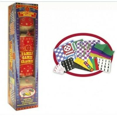 Novelty Giant Family Games Christmas Cracker Ludo Checkers Chess Snakes Ladders