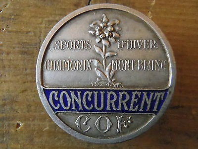 Rare Insigne Concurrent Jeux Olympiques Chamonix 1924 - Olympic Games Badge