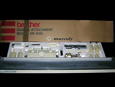 Brother ribber KR 850 for brother knitting machine in original box serviced
