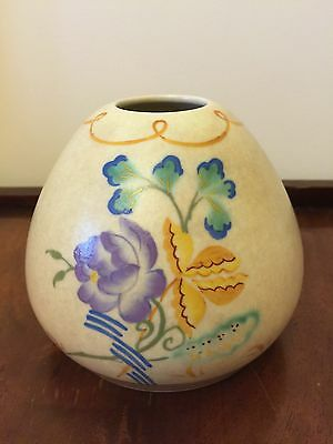Beautiful Art Deco pottery pot by Chameleon Ware, George Clews & Co Ltd