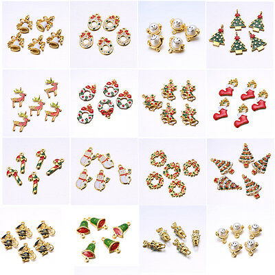 New DIY 5PCS Wholesale Mixed Gold Christmas Gifts Charm Pendant/Bracelet Jewelry • CAD $2.33