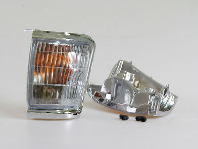 CHROME INDICATOR CORNER LIGHTS PAIR NEW TOYOTA HILUX 6th GEN LN145 LN147 1997-01