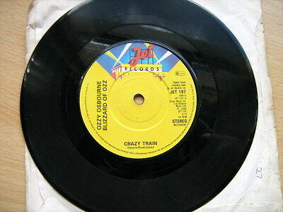 OZZY OZBOURNE - CRAZY TRAIN / you lookin at me lookin at you 7in vinal