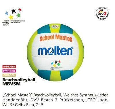 Molten Beachvolleyball School Master MBVSM Schule Traingsball Strand Beach Park