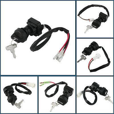New High Quality Ignition Key Switch With 2 Keys Set Black For Multiple Model DE