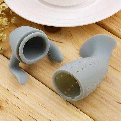 Silicone Manatee Diffuser Infuser Loose Tea Leaf Strainer Herbal Spice Filter ZT