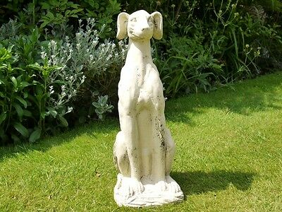 60cm Outdoor Garden Statue Ornament Art Sculpture Large Resin Greyhound Dog