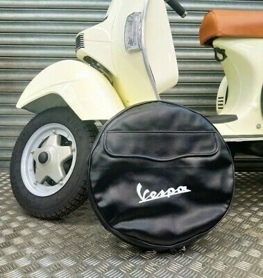 Vespa Px 125 Spare Wheel Cover Quality With Pocket Also Suits Lml Star Unit