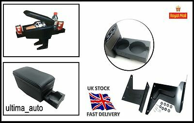 Armrest Arm rest for VAUXHALL Opel Corsa B C D Combo Tigra Black w cup holders