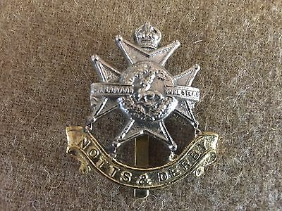 WW1 British army cap badge Sherwood Foresters -  reproduction