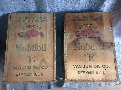 "Pair Early 1930's Vintage Mobil Oil ""E"" Vacuum Oil Co. New York USA Gargoyle"