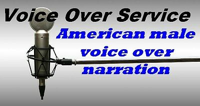 Voice Over Service I will record a excellent American male voice over narration