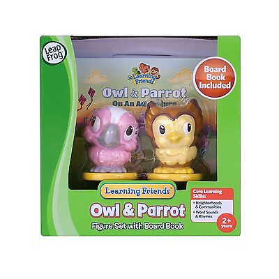 LeapFrog - Owl and Parrot Figures - with Board Book,, Learning Friends, BNIB