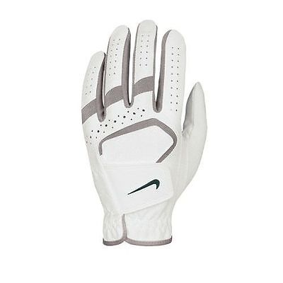 Nike Womens DuraFeel Golf Glove White with Grey Accents MEDIUM LEFT HAND worn