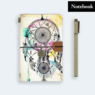 Genuine Leather Journal Travel Diary Travelers Notebook Size Dreamcatcher