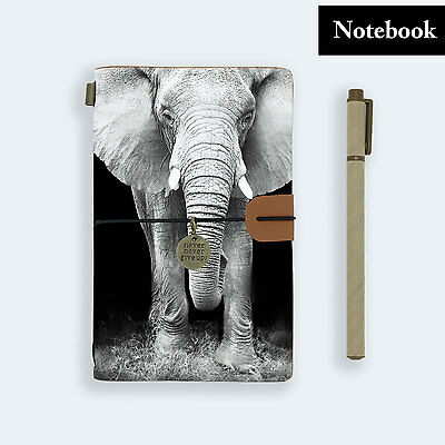 Hand Made Genuine Leather Journal Travel Diary Travelers Notebook Size Elephant
