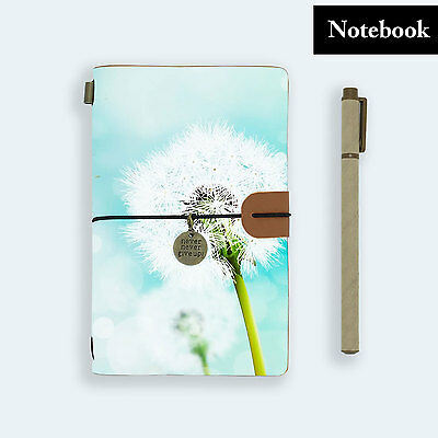 Hand Made Genuine Leather Journal Travel Diary Travelers Notebook Size Dandelion