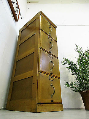 Antique Very Good Quality Golden Oak Filing Cabinet/chest Of Drawers