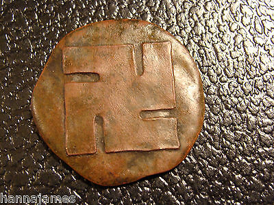 Very Old and Rare Bronze Buckeye Fence Swastika Good Luck Token Youngstown OH