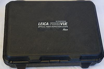 Leica FIBER VUE Optical Fiber Inspection Scope with accessories and case