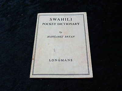 9th Impression 1968 Booklet Longmans - Swahili Pocket Dictionary