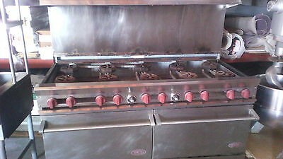Used Dcs-60-10-2N Gas Range 2 Oven 10 Burner Stove Dcs