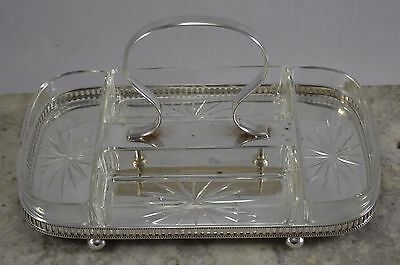 VINTAGE 1920s WALKER & HALL EPNS SILVER PLATED HORS D'OEUVRES DISH