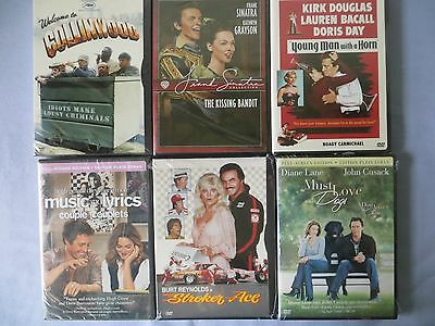 Lot of 6  Assorted New Never Opened DVD's
