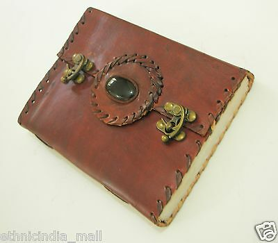 Handmade Paper Leather Journal Blank Vintage Diary Retro Planner Book of Shadows