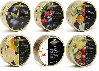Simpkins Travel Sweets 200g Tin **PICK AND MIX ANY 3** Choose from 5 Varieties