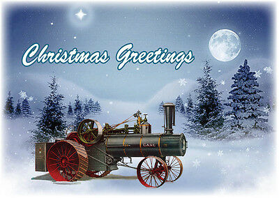 Case Steam Traction Engine Christmas Cards Antique Tractor