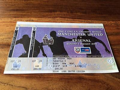 Manchester United V Arsenal 1999 Fa Charity Shield Unused Ticket Mint Free Post