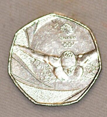 olympic swimmer 50p rare valuable collectors coin