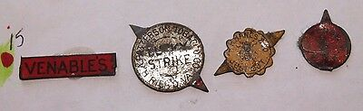 Lot of 4 Vintage Tobacco Tags Venables Lucky Strike P H Hanes & Co Archor Lot 15