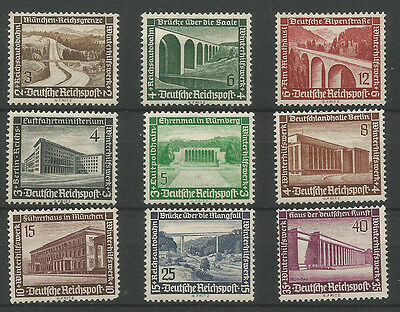 Germany -1936 Winterhilfswerk-Modern Buildings. Complete Mint