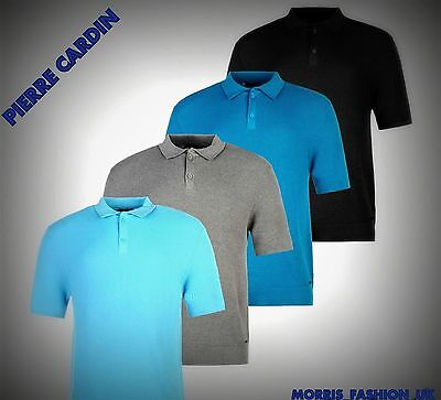 Mens Pierre Cardin Lightweight Knitted  Polo Shirt Top Size M-XXl LIMITED S -2XL
