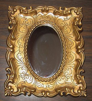 Vintage HOMCO/BURWOOD SMALL GOLD FRAMED MIRROR  #1630-A VERTICAL OR HORIZONTAL