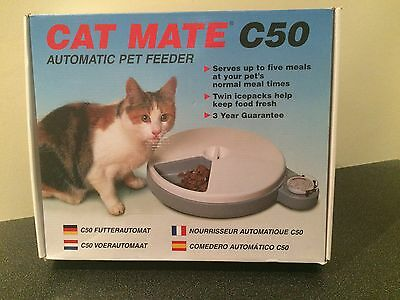 Cat Mate C50 Automatic Pet Feeder Boxed Hardly Used Free Postage