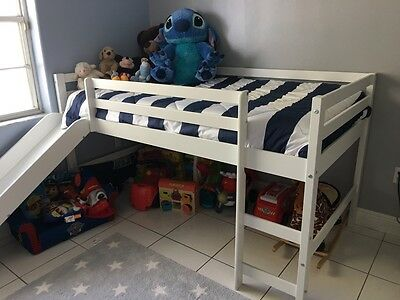 Kids Twin Size Bed with Slide