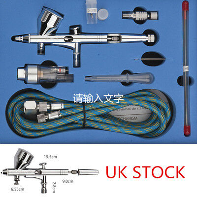 SP180K Double-action Trigger Air-paint Control Airbrush 0.2/0.3/0.5mm Needle UK