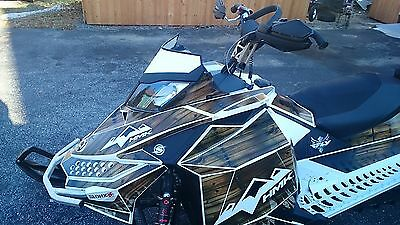 Custom white skidoo XP windshield