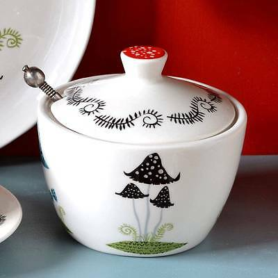 Toadstool Sugar Pot with Lid by Hannah Turner
