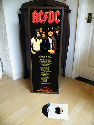 Ac/dc Highway To Hell Promotional Poster Lyric Sheet,heavy Rock Music,lp,cd
