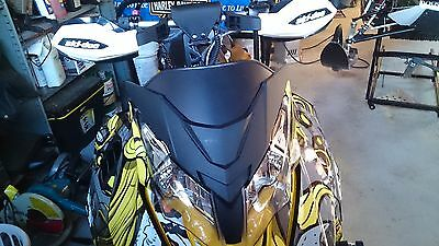 Custom black skidoo xs/xm windshield
