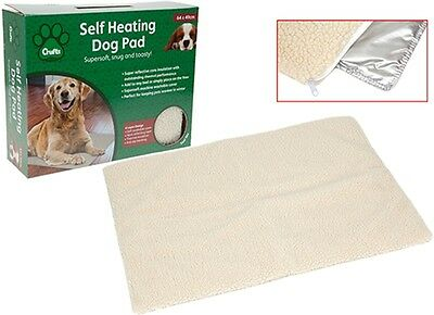 SELF HEATING PET PAD Dog Puppy Cat Thermal Bed Warm Washable Soft Fleece Rug NEW